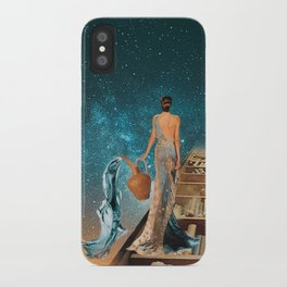 Aquarius and her Books iPhone Case