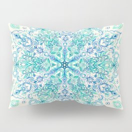 Peppermint Snowflake on Cream Pillow Sham