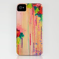 STRAWBERRY CONFETTI PAINTING Abstract Acrylic Floral Beautiful Feminine Flower Bouquet Girlie Pink Slim Case iPhone (4, 4s)