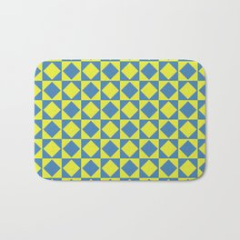 Yellow and blue Bath Mat