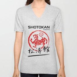 Shotokan Karate Tiger Unisex V-Neck