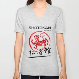 Shotokan Karate Tiger Unisex V-Neck