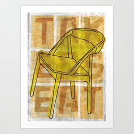 Come On In...Take A Yellow Seat Art Print