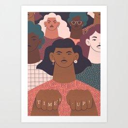TIME'S UP by Carmela Caldart Art Print