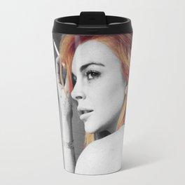 Lindsay Lohan Travel Mug