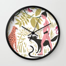 Fermina in the Amazon Wall Clock