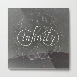 Infinity Constellation Metal Print