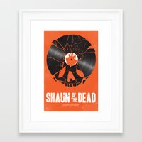 shaun of the dead Framed Art Prints featuring Shaun of the dead by Wharton