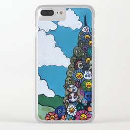 Mutant Mountain Clear iPhone Case