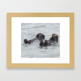 Otter B Friends Framed Art Print