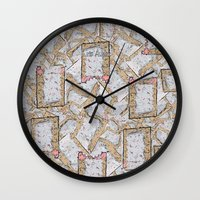 cookie Wall Clocks featuring Cookie by Kris alan apparel