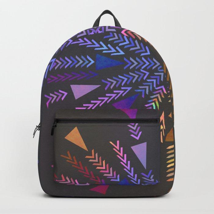 Multicolored geometric firework Backpack