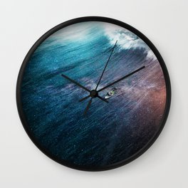 Paddling through the universe Wall Clock