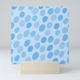 Abstract blue seamless pattern #4 Mini Art Print