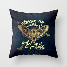 Wild and Improbable Throw Pillow