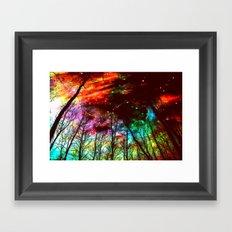 Black Trees Haunting Space Framed Art Print