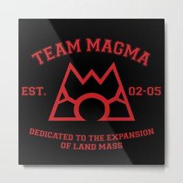 Team Magma Metal Print