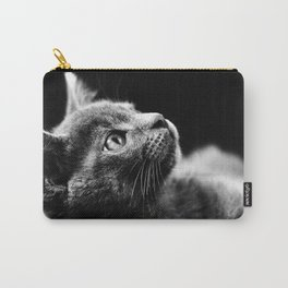 kitten looking up Carry-All Pouch