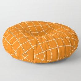 Carrot Grid Floor Pillow