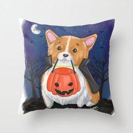 Trick or Treat?... Arf! Throw Pillow