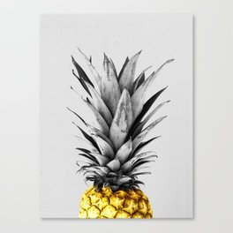 Gray and golden pineapple Canvas Print