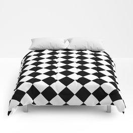 Rhombus (Black & White Pattern) Comforters