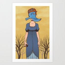 Bluebird Curse Art Print
