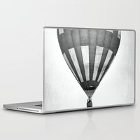 hot air balloon Laptop & iPad Skins featuring Hot Air Balloon by Rose Etiennette