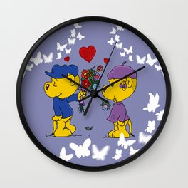 Ferald & Sahsha Ferret Wall Clock