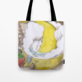 The Moon in a Hottub Tote Bag