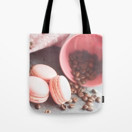 Sweet cakes with coffeebeans in a cup Tote Bag