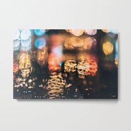 Night rain Metal Print