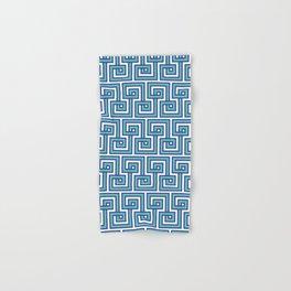 Greek Key - Turquoise Hand & Bath Towel