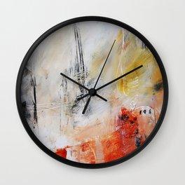 White painting print  Wall Clock