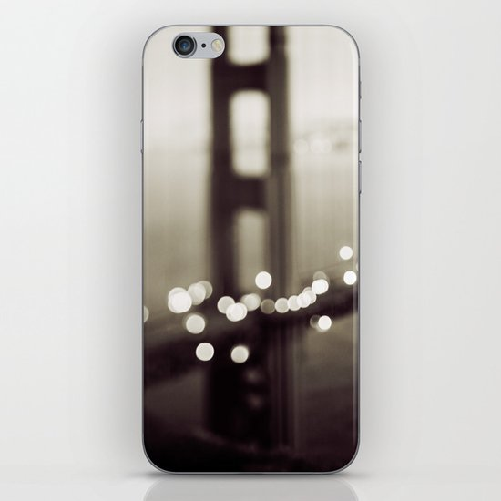 Meet Me In San Francisco (Black and White Edition)  iPhone Skin