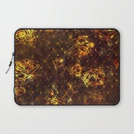 Diamond Rose Pattern - Maroon and Gold Laptop Sleeve