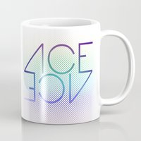 ace Mugs featuring Ace Ace by Covered In Moons