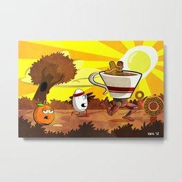 Coffee Run Metal Print