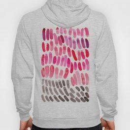 Pretty Pink Pastel Purple Watercolor Colorful Organic Pattern Mid Century Modern Art Hoody