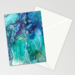 Under the Sea in alcohol inks Stationery Cards