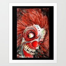 zombie clown Art Print