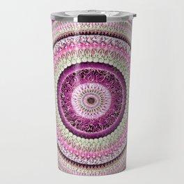 Pure Rose Mandala Travel Mug