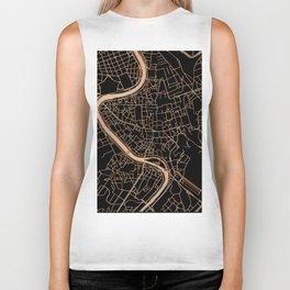Black and gold Rome map Biker Tank