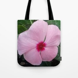 Simplicity in a Pink Flower Tote Bag