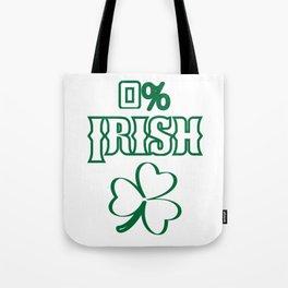 0% Irish Vintage St. Patrick Day Funny Tote Bag