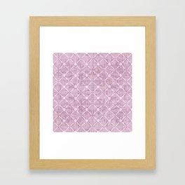 Faux Velvet Dusty Mauve Light Diamond Pattern Framed Art Print