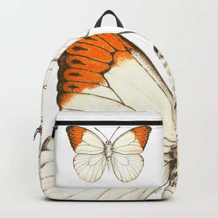 Watercolor butterfly, great orange tip Backpack