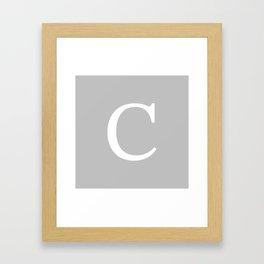 Silver Gray Basic Monogram C Framed Art Print