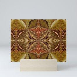 Kaleidoscope, Autumn Earth Tones Mini Art Print