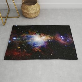 Orion NebulA Colorful Full Image Rug